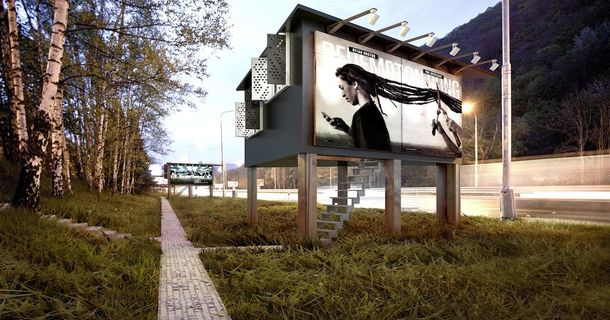 These Designers Have A Brilliant Idea: Use Billboards As Housing For Homeless